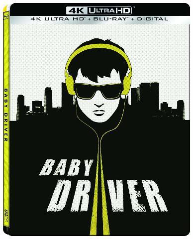 Baby Driver (4K Ultra Hd   Blu-Ray   Digital) (Steelbook)