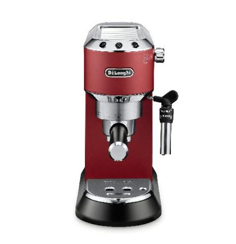 DeLonghi Dedica Espresso Machine, Red