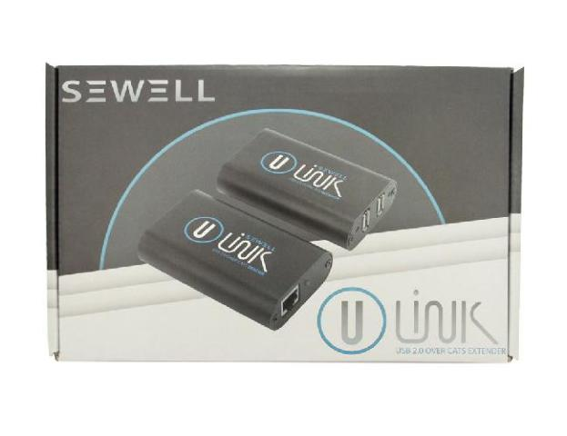 Sewell Direct SW-30224 480 Mbps, 200-Feet U-Link True USB 2.0 over Single Cat5 Extender