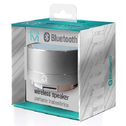 M Urban Portable Aluminum Bluetooth Speaker Calling - Silver