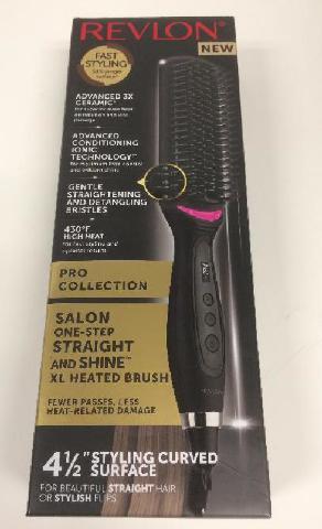 Revlon Xl Hair Straightening Heated Styling Brush