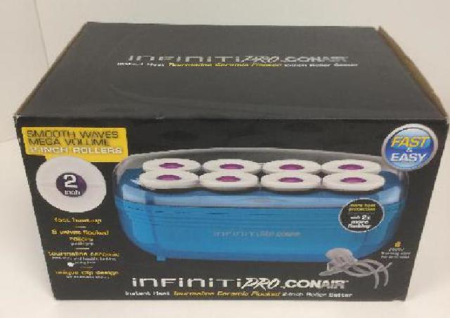 Infiniti Pro  Instant Heat Toumaline Ceramic Flocked Hot Rollers; 2-Inch
