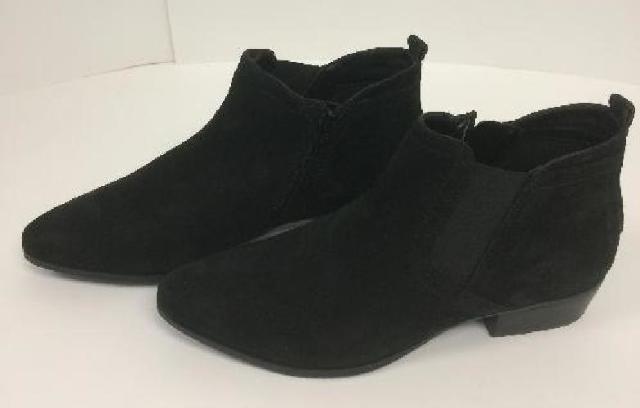 (9 W) Naturalizer Women's Becka Ankle Boot, Black Nubuck,