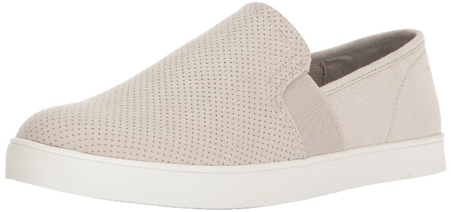 Dr. Scholl's Shoes Women's Luna Sneaker, Greige Microfiber Perforated, 9.5