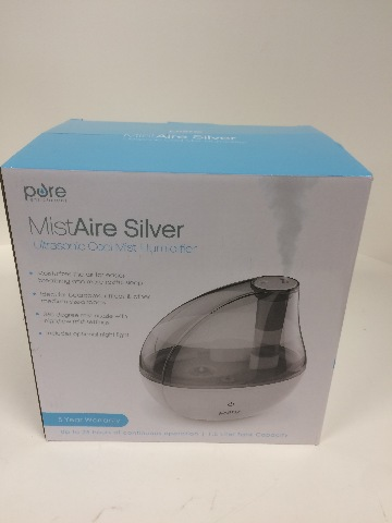 Mistaire Silver Ultrasonic Cool Mist Humidifier