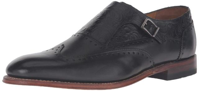 Stacy Adams Men's M2 Monk Strap Loafer, Black, 12 D Us