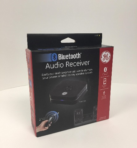 GE Home Audio Blue tooth Receiver, 30 ft. Range, Wireless Audio Adapter