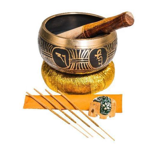 """Tibetan Handmade 5"""" Singing Bowl Set by ZENITA"""