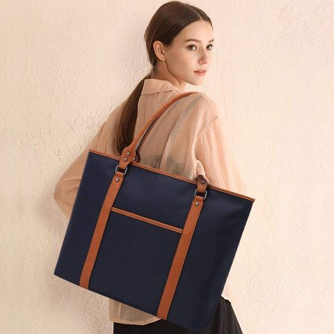 Lightweight Nylon Laptop Bag For 15-15.6 Inch Laptop,Navy