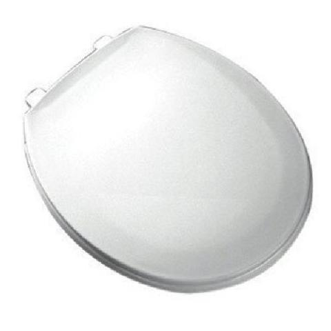 Bemis Plastic Round Toilet Seat With Easy Clean And Change Hinge, White