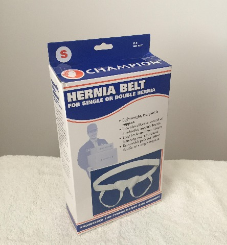 Champion Hernia Belt, Single Or Double Bilateral Herniation Pad, Small
