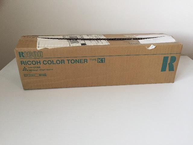 LOT OF 4 NEW Genuine RICOH Type K1 Cyan Color Toner