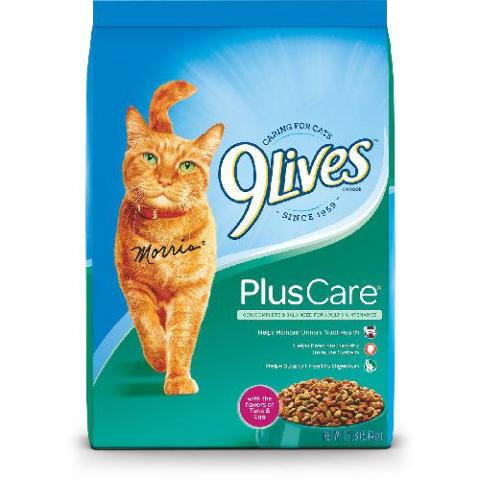9Lives Plus Care Dry Cat Food, 12 lb