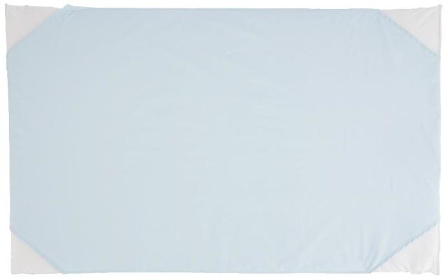 "box of 10 - 100% Cotton Percale  Toddler Day Care Cot Sheet, Blue, 23"" x 40"""