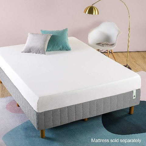 Zinus Quick Snap Standing Mattress Foundation/Platform Bed - Grey, Twin