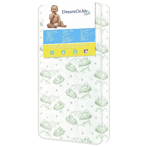 Dream On Me 96 Coil Spring Crib And Toddler Bed Mattress, Bliss, 6 Inches