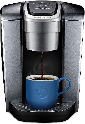 Keurig K-Elite, Single Serve K-Cup Pod Coffee Brewer, Brushed Silver