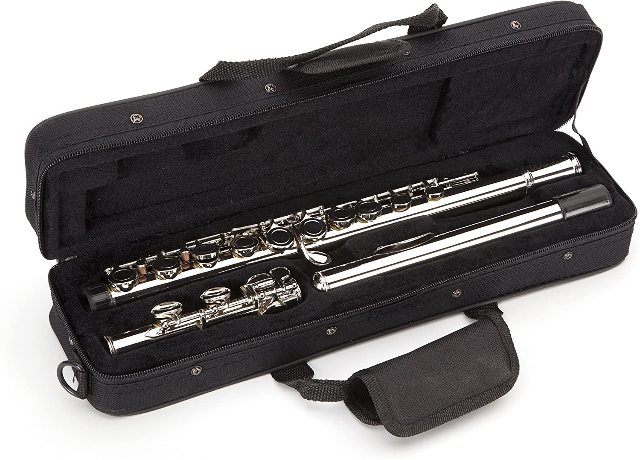 Windsor Student Nickel Plated Flute with Split E Key Includes Hard Case (MI-1002)