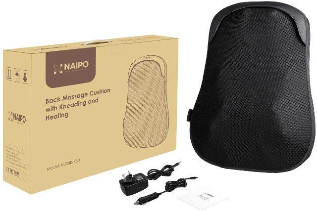 Naipo Back Massager Shiatsu Massage Chair Cushion MGBK-750