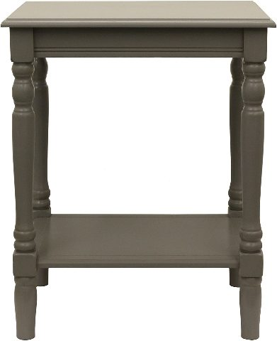 Decor Therapy FR1862 End Table, Eased Edge Gray