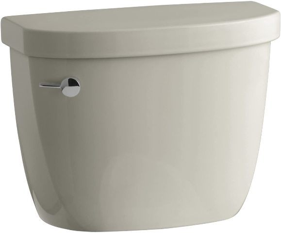 KOHLER Cimarron Sandbar 1.28-GPF (4.85-LPF) 12-in Single-Flush Toilet Tank