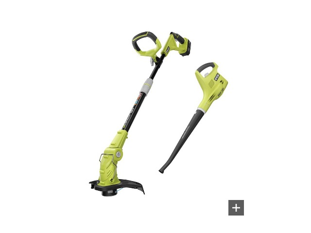 ONE  18-Volt Lithium-Ion String Trimmer/Edger and Blower Combo Kit Tool Only