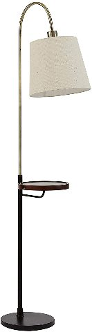 Rivet Af42729 Franklin Shelf And USB Charging Station Floor Lamp