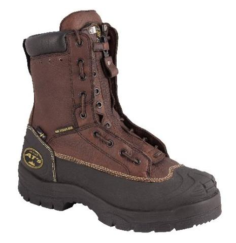 """Oliver 65 Series 8"""" Chemical-Resistant Lace-In Zipper Leather Work Boots (65392)"""