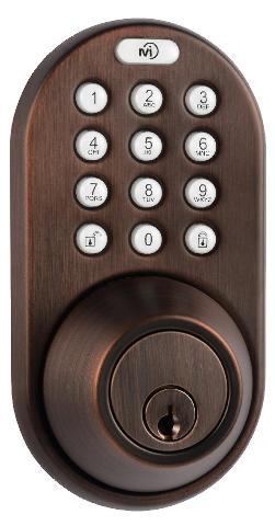 Milocks Df-02ob Electronic Keyless Entry Touchpad Deadbolt Door Lock, Oil Rubbed Bronze