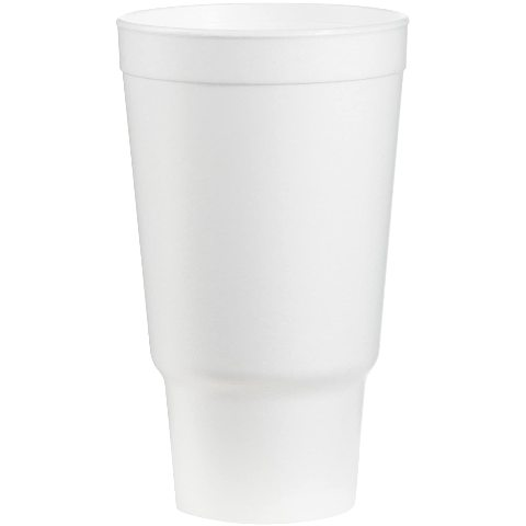 Dart 32AJ20 32 Oz. Insulated Foam Cup, Polystyrene, White (Pack Of 400)
