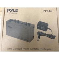 Pyle Pro PP444 DJ Ultra Compact Mini Phono Turntable Preamp Audio PP-444