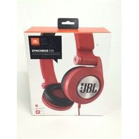JBL E30 Red High-Performance On-Ear Headphones with DJ-Pivot Ear Cup, Red
