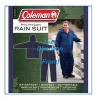 Coleman Pvc/Nylon Rainsuit3xl/4xl Blue