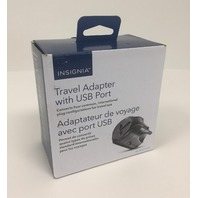 Insignia Travel Adapter With USB Port - NS-TADPT1USB-C