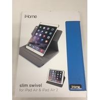 iHome Slim Swivel Folio Case for Apple iPad Air/Air 2, Blue