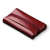 AViiQ Portable Charging Station Mini Folio - Burgandy Leather