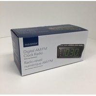 Insignia Digital Am/fm Clock Radio W/ Large Green Led Display - NSCLOPP2C