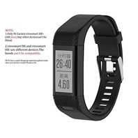 Vivosmart HRplus Bands,TenCloud Replacement Striped Sport  (Black)