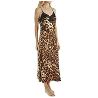 Women's Natori Leopard Nightgown, Size Medium - Brown