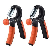 2 Pack Hand Grip Strengthener Strength Trainer Adjustable Resistance 22-88 Lbs Arm Hand Exerciser Non-slip Gripper for Athletes Pianists Kids (1 Pack)