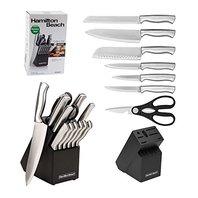 Hamilton Beach HDA601 Knife Set, 14 Pieces, Black/Silver