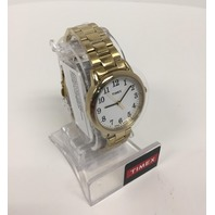 Ladies Timex Easy Reader Gold Watch-TW2R238009J , Gold