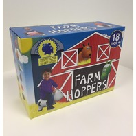 Farm Hoppers - Cow - Blue