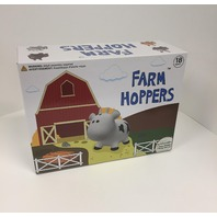 Farm Hoppers - Cow - White