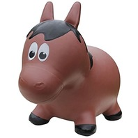 Farm Hoppers - Inflatable Bouncing Brown Horse With Pump