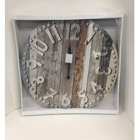 Ergo Clock - Vintage Barnboard Wall