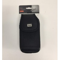 REIKO VERTICAL RUGGED POUCH IPHONE 6 7 8 WITH BELT CLIP BLACK