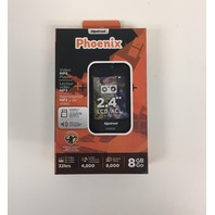"Hipstreet Phoenix 8GB MP3 Media Player 2.4"" Touch Screen Black"