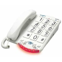 Clarity JV35 Amplified Telephone With Talk Back Numbers White