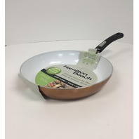 "Hamilton Beach - 10"" Fry Pan - Copper/White Ceramic"